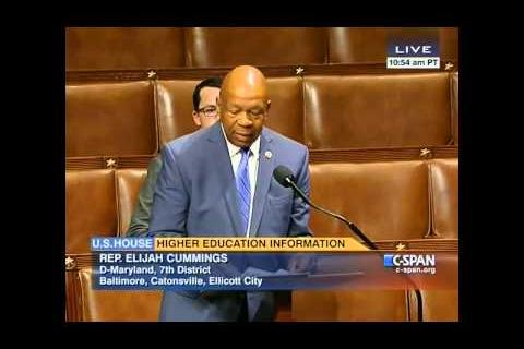 Cummings Urges Support For College Cost Transparency Legislation